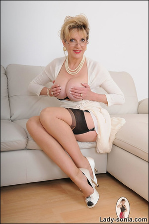 Looking virginal in white, beautiful MIL - XXX Dessert - Picture 6