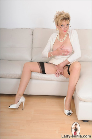 Looking virginal in white, beautiful MIL - XXX Dessert - Picture 7