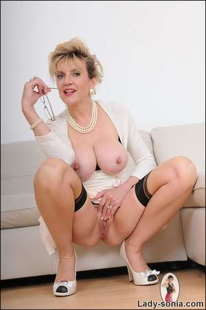 Looking virginal in white, beautiful MIL - XXX Dessert - Picture 10