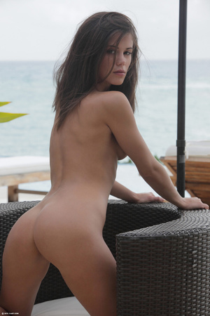 Hot brunette babe with big jugs pleasing - XXX Dessert - Picture 7