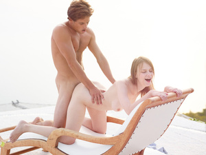 Busty long-haired babe gets face fucked  - XXX Dessert - Picture 5