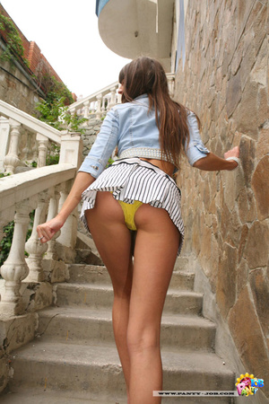 Cool upskirt pics of a nice teen in yell - XXX Dessert - Picture 7