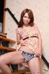 Naughty teen gal masturbating trough her nice panties