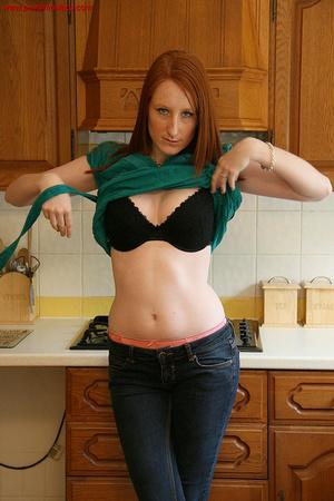 Ginger babe Jade loves posing topless in - XXX Dessert - Picture 1