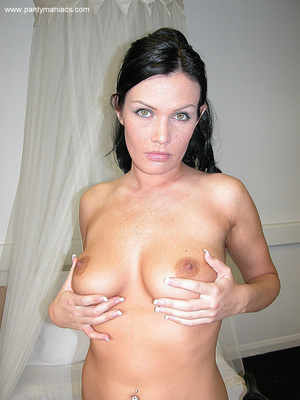 Only for you this busty ponytailed brune - XXX Dessert - Picture 13