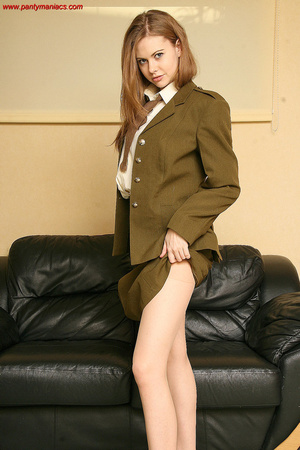 Pretty teen chick in a suit with a tie p - XXX Dessert - Picture 1