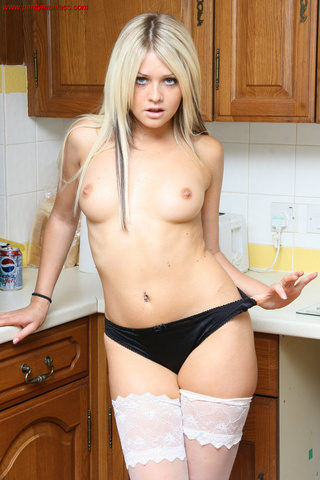 image Slutty blonde skank facialized