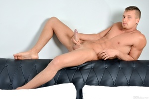 Sexy lean guy strips and shows what's in - XXX Dessert - Picture 13