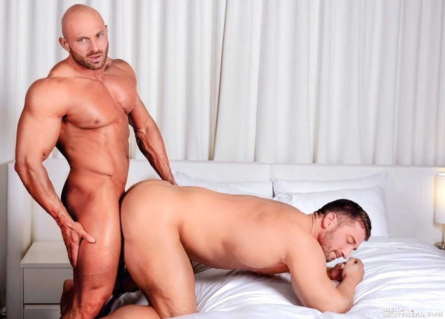 Two hunks ass fucking and cumming