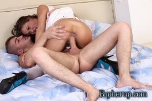 Horny guy flies at a teeny in white stoc - XXX Dessert - Picture 18