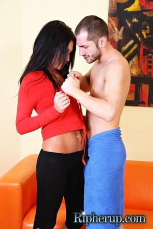 Nasty Clair swallows hot cum after rude  - XXX Dessert - Picture 1
