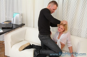 Blonde bitch Shirley gets her pantyhose  - XXX Dessert - Picture 4