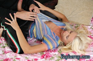 Nasty blondie Anna getting all her cloth - XXX Dessert - Picture 4