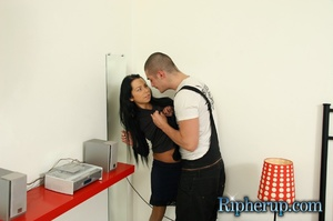 Dude rips brunette's clothes with his te - XXX Dessert - Picture 4