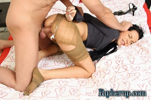 Dude rips brunette's clothes with his te - XXX Dessert - Picture 10