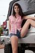 hot brunette teen posing