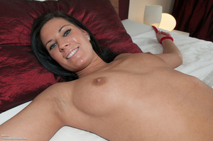 Liona with a shaved pussy taking a showe - XXX Dessert - Picture 1
