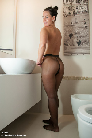 Naughty blonde freshie in stockings Bran - XXX Dessert - Picture 2