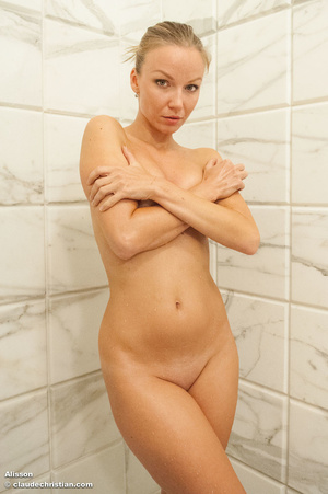 Bianca posing topless in stockings and a - XXX Dessert - Picture 1