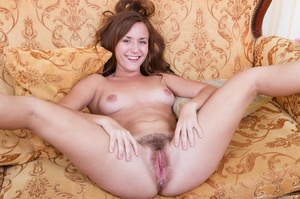 Sexy young babe on couch strips off erot - XXX Dessert - Picture 8