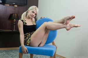 Young petit blonde with real bushy pussy - XXX Dessert - Picture 3