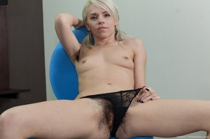 Young petit blonde with real bushy pussy - XXX Dessert - Picture 10