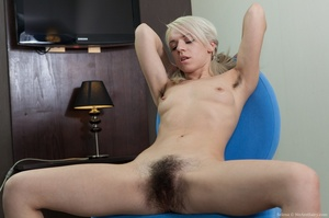 Young petit blonde with real bushy pussy - XXX Dessert - Picture 13