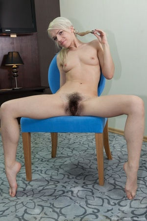 Young petit blonde with real bushy pussy - XXX Dessert - Picture 16
