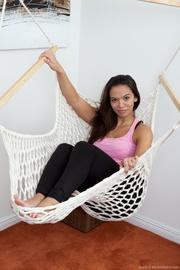girl gets horny hammock