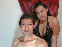 1boy_1girl, couple live sex, swallow, zoom
