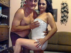 1boy_1girl, couple live sex, swallow, white