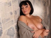 brunette sofia willing perform