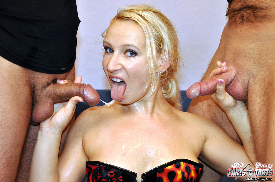 Hot milf pleases two men