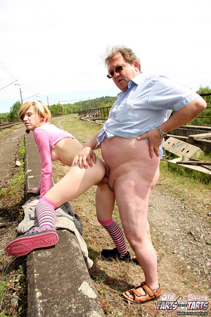Old guy fucking a horny teenage cutie on - XXX Dessert - Picture 7