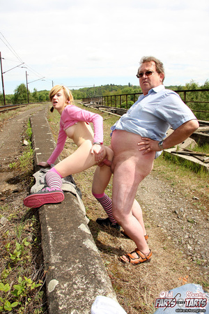 Old guy fucking a horny teenage cutie on - XXX Dessert - Picture 8