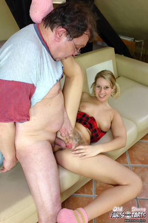 Horny and much older senior banging a te - XXX Dessert - Picture 9