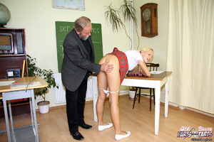 A horny schoolgirl nailed hardcore by he - XXX Dessert - Picture 1