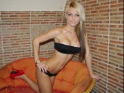 blonde linsy willing perform