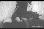 horny vintage couple kissing