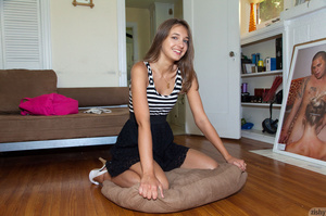 Slim fair-haired teen vixen in lovely st - XXX Dessert - Picture 1