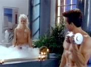 Bathing retro blonde fucks and sucks a horny dudes cock
