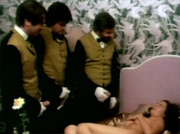Three butlers fucking a sexy girl in a hotelroom hardcore