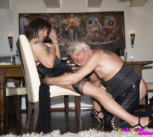 Cock hungry crossdressers display their  - XXX Dessert - Picture 9