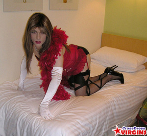 Cock hungry crossdressers display their  - XXX Dessert - Picture 10