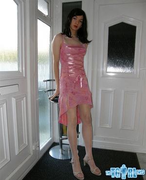 Pretty in glossy pink dress as an alluri - XXX Dessert - Picture 6