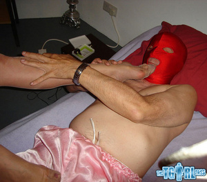 Blonde crossdress bitch gives the myster - XXX Dessert - Picture 6