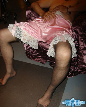 Blonde crossdress bitch gives the myster - XXX Dessert - Picture 13
