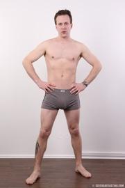 sexy guy shows massive