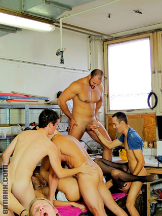 tool shop orgy goes