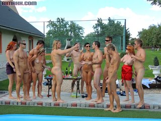 poolside bisex orgy features